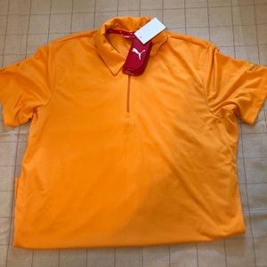PUMA Orange Collared Shirt, Size M